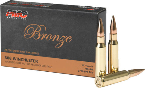 Pmc Ammo .308 Winchester 147Gr FMJ-Bt 20-Pack