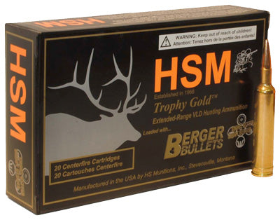 HSM Ammo .308 Norma Mag 185gr. Berger Match Hunting Vld 20-Pack