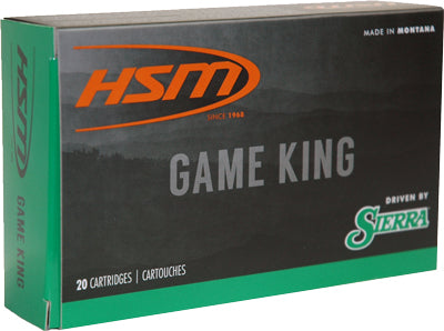 HSM Ammo .338 Win Mag 215gr. SBT Sierra Game King 20-Pack
