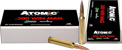 Atomic Ammo .300Wm Match 220gr. Sierra HPbt 20-Pack