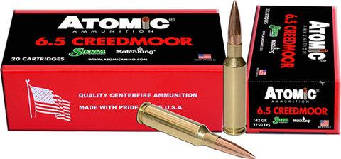 Atomic Ammo 6.5 Creedmoor Match 142gr. Sierra Smk 20-Pack