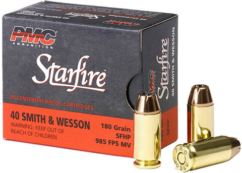 Pmc Ammo .40 S&W 180gr. Star Fire Hollow Point 20-Pack !