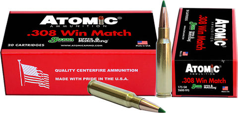 Atomic Ammo .308 Win. Match 175gr. Sierra TMK 20-Pack