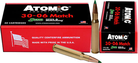 Atomic Ammo .30-06 Match 175Gr Sierra TMK 20-Pack