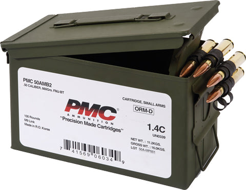 Pmc Ammo .50 Bmg 660 Grain Fmj-Bt 100 Rounds Linked 50A Link (M/B)