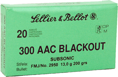 S&B Ammo .300Aac Blackout Subsonic 200gr. FMJ 20-Pack