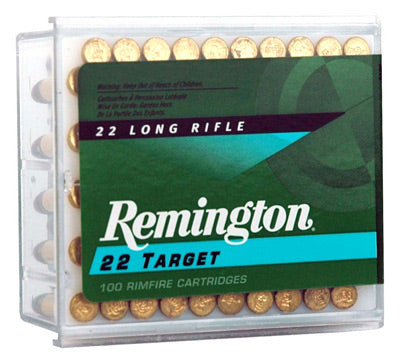 Remington Ammo .22 Long Rifle 100-Pack Std. Velocity Target 40gr. Rn