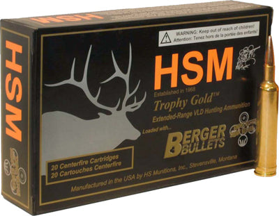 HSM Ammo 6.5 Creedmoor 140gr. Berger Match Hunting Vld 20-Pack