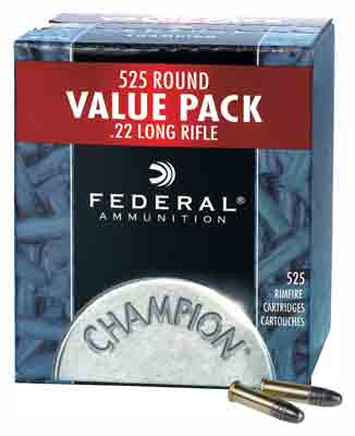 Federal Ammo .22LR 1260fps. 36Gr Hollow Point 525Pack