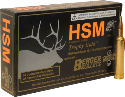 HSM Ammo Tg 7mm Rem Mag 168Gr Berger Match Hunting Vld 20-Pack