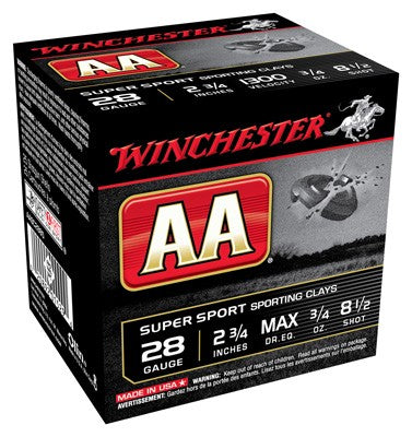 "Winchester Ammo Aa Target 28Ga. 2.75"" 1300fps. 3/4oz. #8.5 25-Pack"