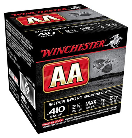"Winchester Ammo Aa Target .410 2.5"" 1300fps. 1/2oz. #8.5 25-Pack"