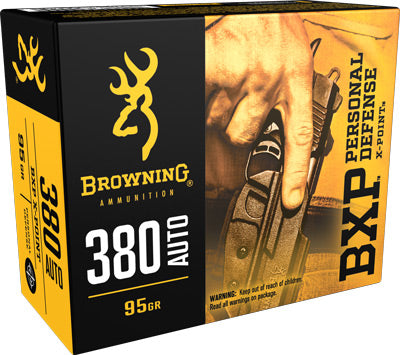 Browning Ammo Defense .380ACP 95gr. Bxp-JHP 20-Pack
