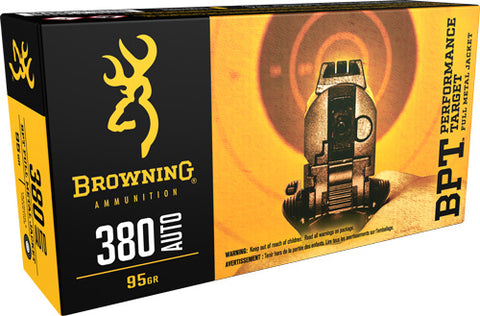 Browning Ammo Target .380ACP 95gr. Bpt-FMJ 50-Pack