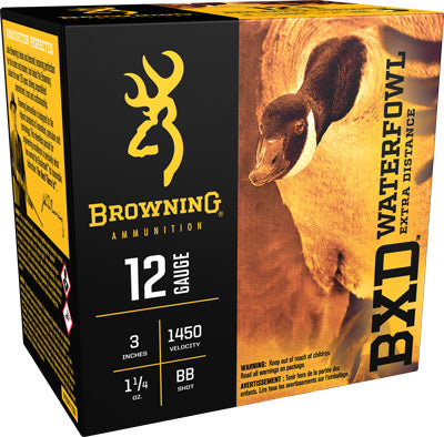 "Browning Ammo Bxd Steel 12Ga. 3"" 1450fps. 1-1/4oz. BB 25Pack"