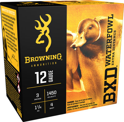 "Browning Ammo Bxd Steel 12Ga. 3"" 1450fps. 1-1/4oz. #4 25Pack"