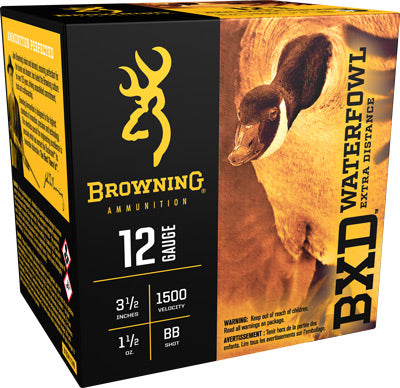 "Browning Ammo Bxd Steel 12Ga. 3.5"" 1500fps. 1-1/2oz. BB 25Pack"