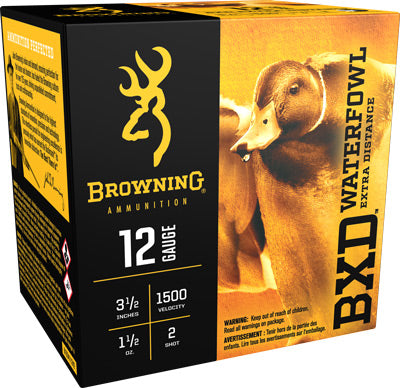 "Browning Ammo Bxd Steel 12Ga. 3.5"" 1500fps. 1-1/2oz. #2 25Pack"