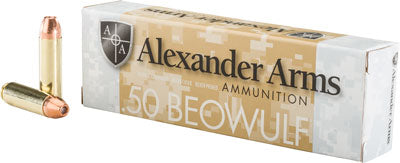 Alexander Ammo .50 Beowulf 335gr. Hollow Point 20-Pack