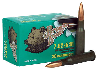 Brown Bear 7.62X54R 174Gr FMJ 20-Pack