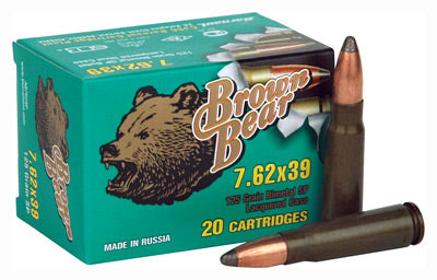 Brown Bear 7.62X39 125gr. Sp 500Rd Case
