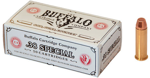 Buffalo Cartr Ammo .38 Special 125gr. FMJ FP 50-Pack