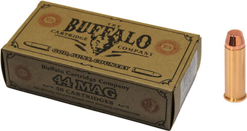 Buffalo Cartr Ammo .44 Magnum 240 gr. FMJ FP 50-Pack