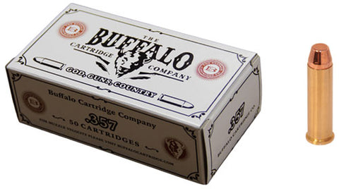 Buffalo Cartr Ammo .357 Magnum 158gr. FMJ FP 50-Pack