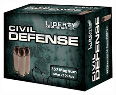 Liberty Ammo Civil Defense .357Mag 50gr. HP 20-Pack