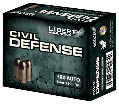 Liberty Ammo Civil Defense .380ACP 50gr. HP 20-Pack