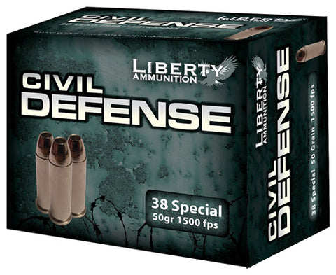 Liberty Ammo Civil Defense .38Spl 50gr. HP 20-Pack
