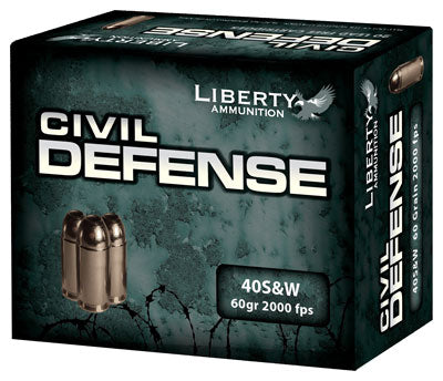 Liberty Ammo Civil Defense .40S&W 60Gr HP 20-Pack