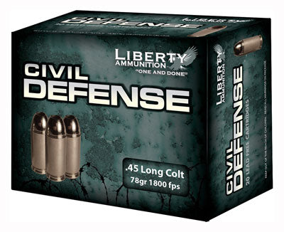 Liberty Ammo Civil Defense .45 Colt 78gr. HP 20-Pack