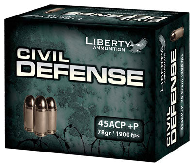 Liberty Ammo Civil Defense .45ACP 78Gr HP 20-Pack