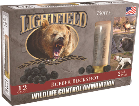 "Lightfield 12Ga 2-3/4"" (21Ball Rubber Buckshot 5-Pack"
