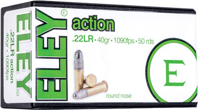 Eley Action 22LR 40gr. Round Nose 50 Pack