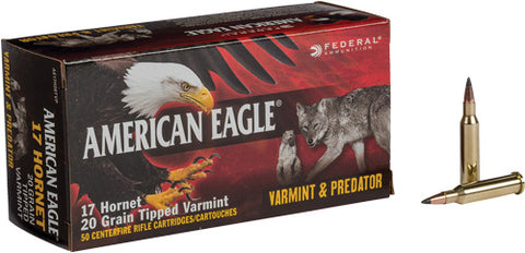 Federal Ammo Ae .17 Hornet .20gr. Tipped Varmint 50-Pack