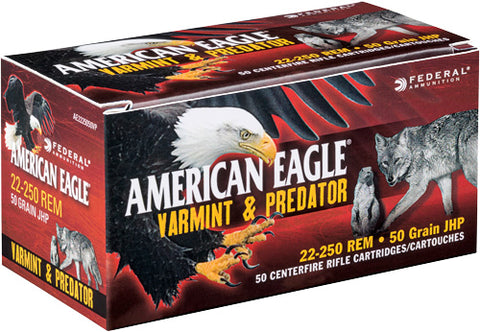 Federal Ammo Ae .22-250 Rem. 50gr. Jacketed Hollow Point 50-Pack