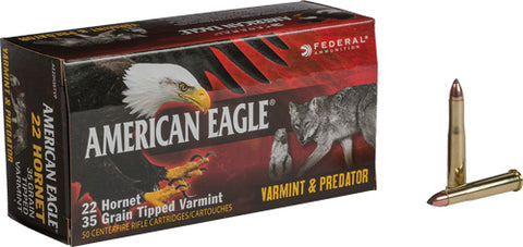 Federal Ammo Ae .22 Hornet 35gr. Tipped Varmint 50-Pack