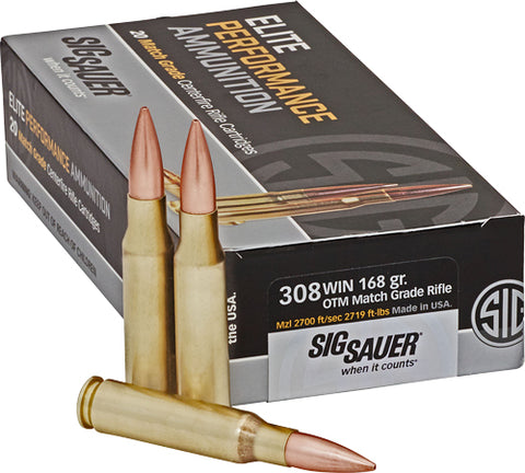 SIG Ammo .308 Win. 168gr. Open Tip Match 20-Pack