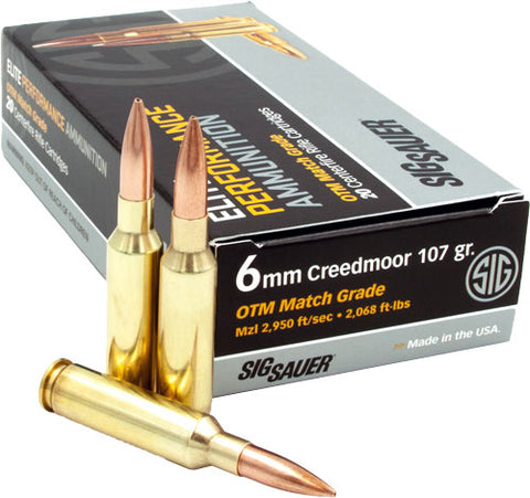 Sig Ammo 6Mm Creedmoor 107Gr Open Tip Match 20-Pack E6Mmcm2-20