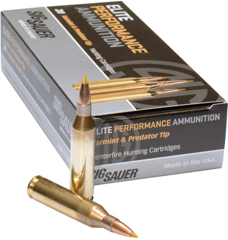 Sig Ammo 6Mm Creedmoor 100Gr. Elite Tipped Hunting 20-Pack E6Mmcth2-20
