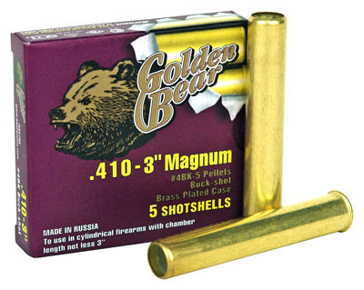 "Golden Bear .410 3"" #4 Buck- Shot 5-Pack"