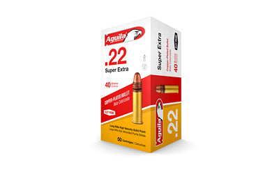 Aguila Ammunition Rimfire, 22LR, 40 Grain, Solid Point, Hi-Velocity, 50 Round Box 1B222328