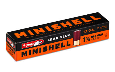"Aguila Ammunition Minishell, 12Ga 1.75"", Lead Slug 1C128968"
