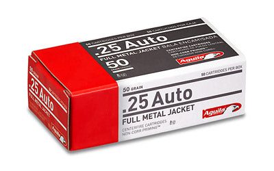 Aguila Ammunition Pistol, 25 ACP, 50 Grain, Full Metal Jacket, 50 Round Box 1E252110
