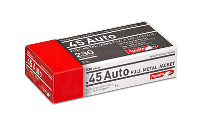 Aguila Ammunition Pistol, 45 ACP, 230 Grain, Full Metal Jacket, 50 Round Box 1E452110