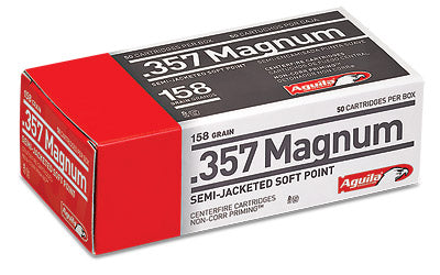 Aguila Ammunition Pistol, 357 Mag, 158 Grain, Semi Jacketed Soft Point, 50 Round Box 1E572823