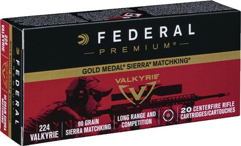 Fed Ammo Gold Medal .224 Valky
