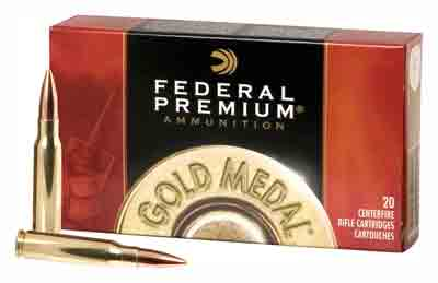 Federal Ammo Gold Medal .30-06 168gr. Sierra Matchking 20-Pack